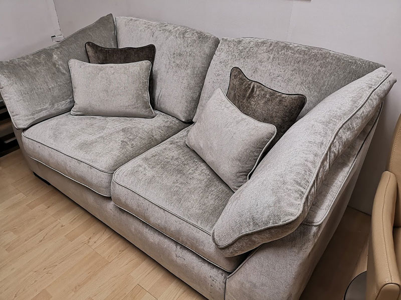 2-Seater-Grey-Velvet-Soft-Sitting-Sofa-at-Kilcroney-Furniture
