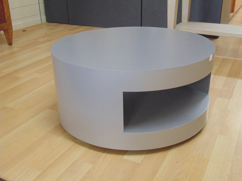 Circular Grey Metal Table on Casters.jpg
