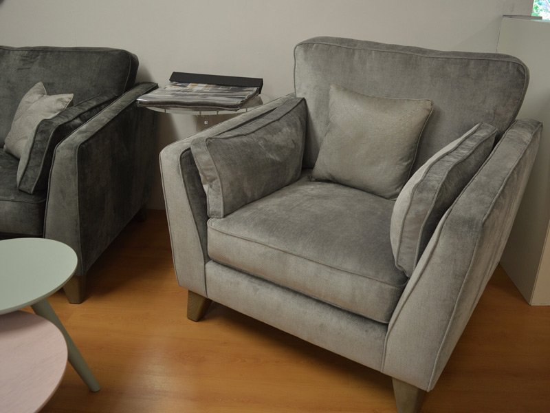 Grey-Silver-Armchair