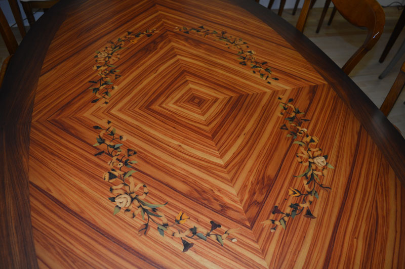 Inlaid Louis XV1 Unique Dining Table Kilcroney Furniture Wicklow Furniture