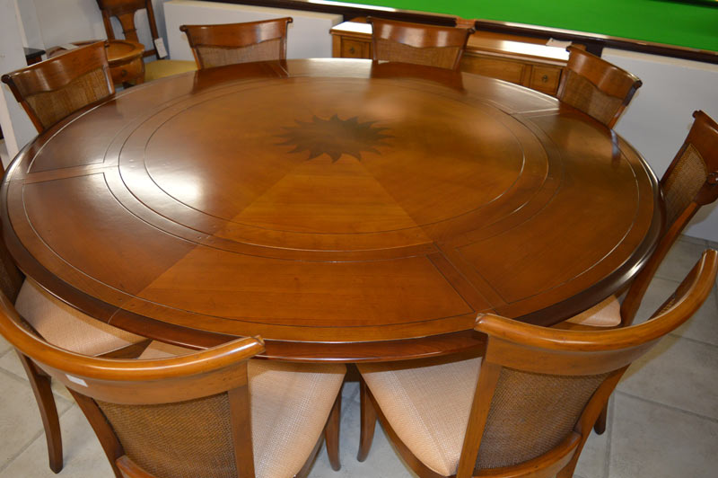 Solid-Cherrywood-Extending-Round-Dining-Table
