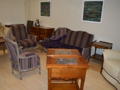 Beautiful French Sofa and Chairs and Solid Cherrywood Side Table Kilcroney Furniture Wicklow Furniture