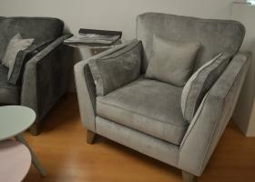 Grey-Silver-Armchair