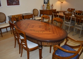 Inlaid Solid Cherrywood Table Kilcroney Furniture Wicklow Furniture