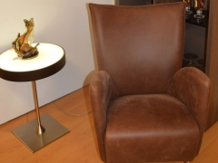 Brown-Leather-Tulip-Chair