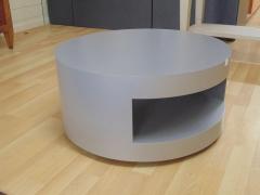 Circular Grey Metal Table on Casters.jpg