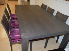 Dark Finished Dining Table with Matching Chairs Kilcroney Furniture Wicklow Furniture