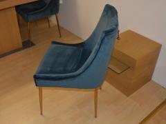 Dining-Chair-in-Blue-Velvet-with-Rose-Legs