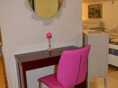 Dining Table which Closes to neat Console. Sideboard to match. Kilcroney Furniture Wicklow Furniture