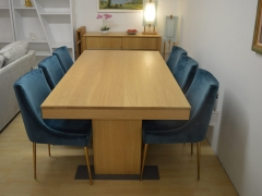 Dining-Table-with-Blue-Velvet-Dining-Chairs