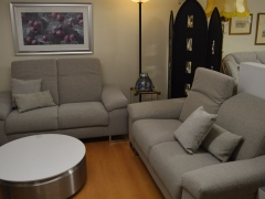 Grey Fabric Sofas with Adjustable Headrests Kilcroney Furniture Wicklow Furniture