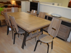 Industrial Look Dining Table and Chairs Kilcroney Furniture Wicklow Furniture