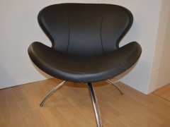 Ocassional-Chair-in-Black-Leather-with-Chrome-Legs