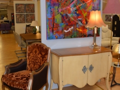Painted Cabinet and Italian Chair Kilcroney Furniture Wicklow Furniture