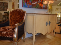 Painted Cabinet shown with Italian Chair Kilcroney Furniture Wicklow Furniture