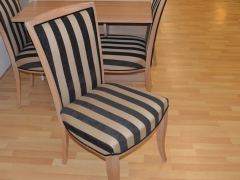 Solid-Chairs-with-Stripped-Fabric