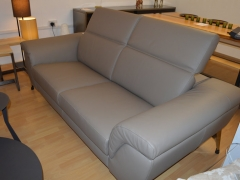 Taupe-Leather-3-Seater-Sofa-with-Chrome-Legs