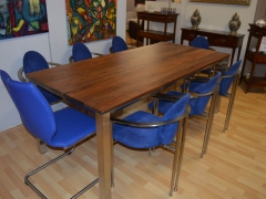Walnut Dining Table with Designer Chairs Kilcroney Furniture Wicklow Furniture