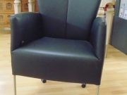 Black Leather Dining Chair (Adjustable Back on Casters).jpg