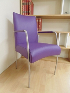 Purple & Pink Leather Dining Chair