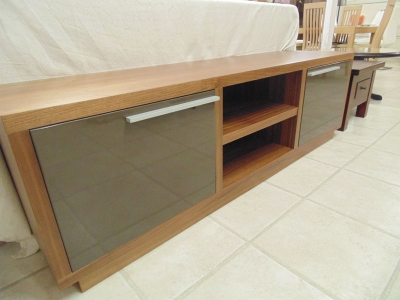 Angelo Long TV Unit with Glass Door