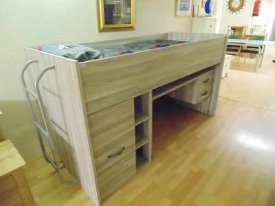 Cabin Bed with Desk and Storage (mattress extra)