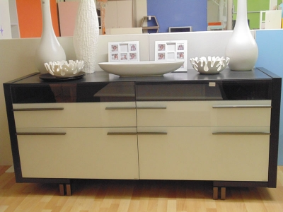 White/Black Lacquer Sideboard