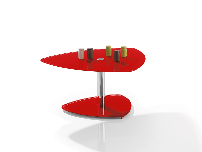 Motard Manhattan Triangle Coffee Table Red