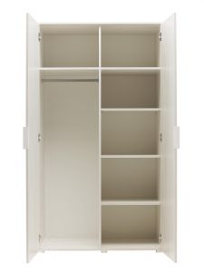 LYNBROOK - 2 doors wardrobe with storage - Whitewashed cherry furniture