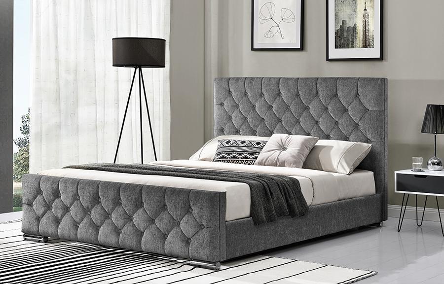 CARA - Botton back 5' bed - Silver -