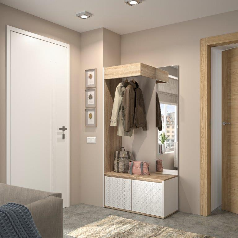 DIANA - Compact Cupboard Storage - White furniture