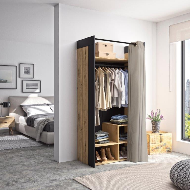 DIANA - Wardrobe with 3 cubes storage - Funiture