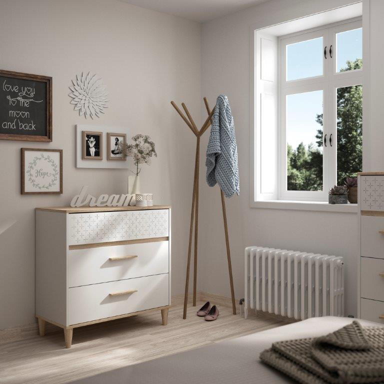 DIANA - Chest with 3 drawers - White furniture