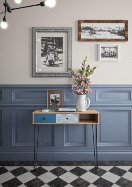 DIANA - Console Hall Table - Blue and white furniture