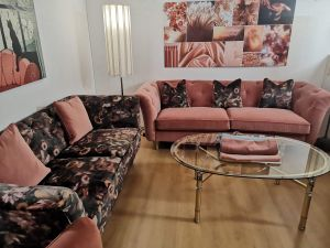 Pink Velvet and Floral Sofas