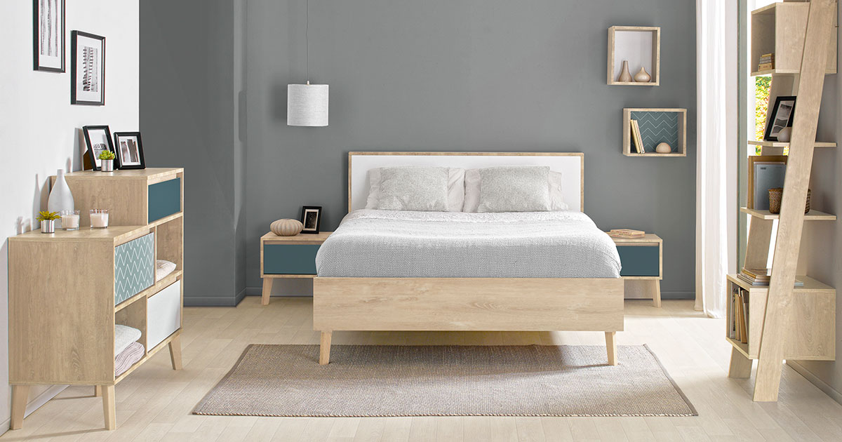 KILCRONEY_FURNITURE_BEDROOM_Lar-Double-Bed-with-Chest-Lockers-and-Bookcase-Storage