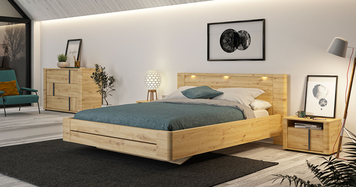 KILCRONEY_FURNITURE_BEDROOM_Poise-180cm-Bed-in-Artisan-Oak