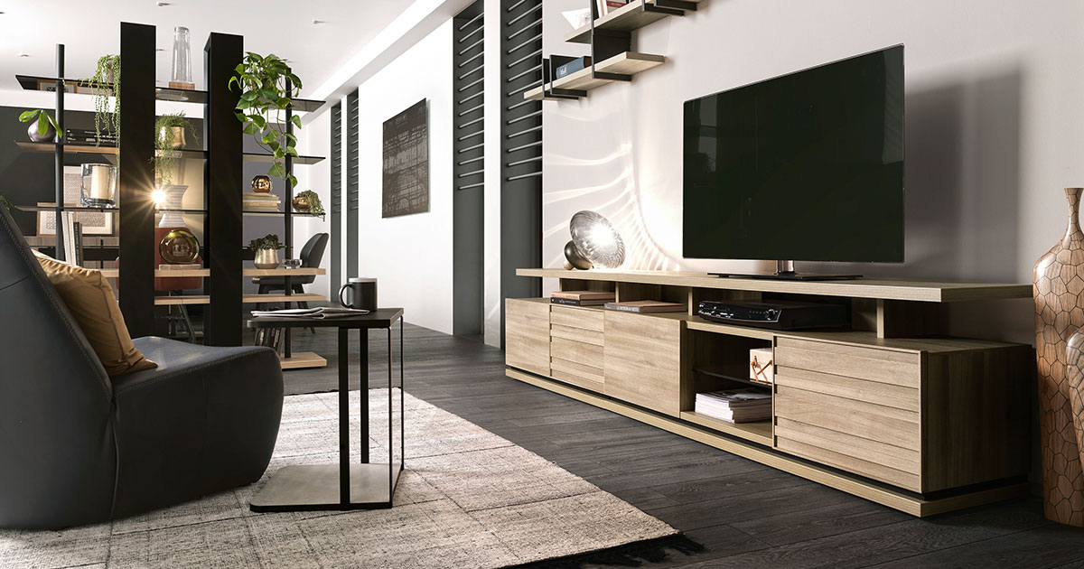 KILCRONEY_FURNITURE_DINING_Natura Ladder Storage and TV Stand