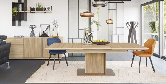 KILCRONEY_FURNITURE_DINING_Natura Sideboard with Ext Rectangular Table