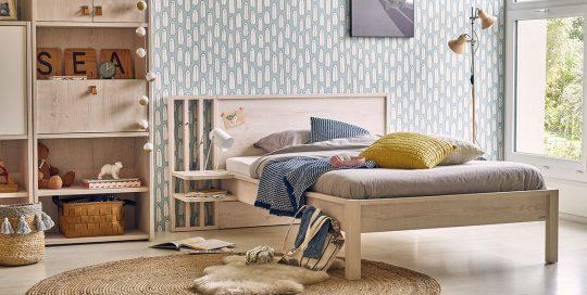 KILCRONEY_FURNITURE_KIDS_TEENS_Double-Bed-with-Bedside-Shelf-Unit