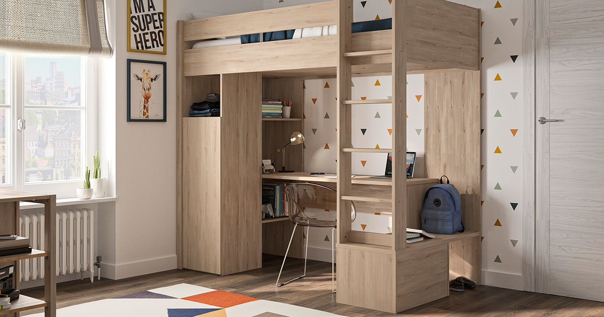 KILCRONEY_FURNITURE_KIDS_TEENS_HANS_Mezzanine-High-Bed