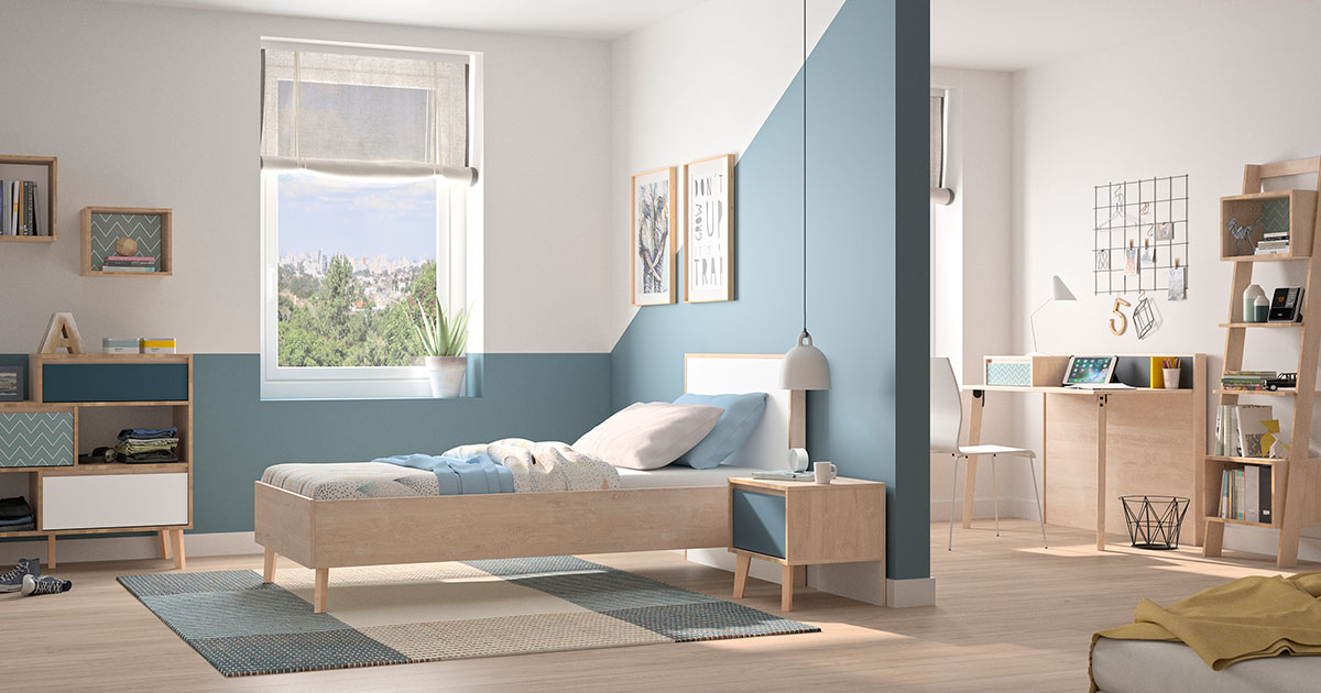 KILCRONEY_FURNITURE_KIDS_TEENS_LAR_Lar-Single-Bed-with-Bookcase-Chest-of-drawers-and-desk