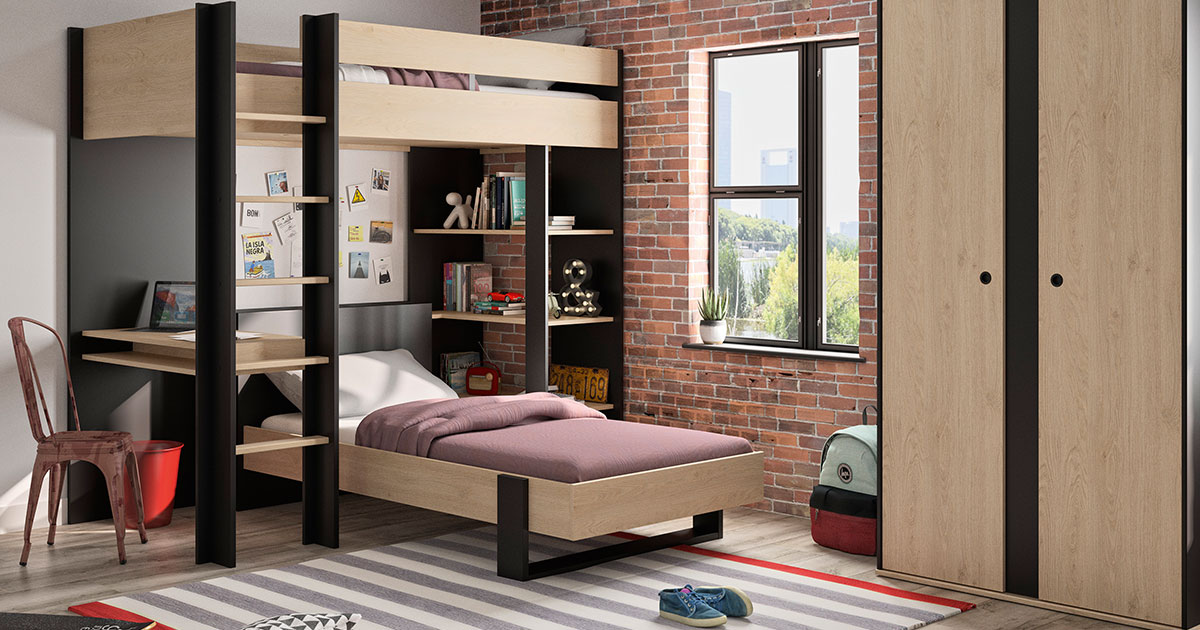 KILCRONEY_FURNITURE_KIDS_TEENS_LEXI_Mezzanine-Bed-with-bed-underneath