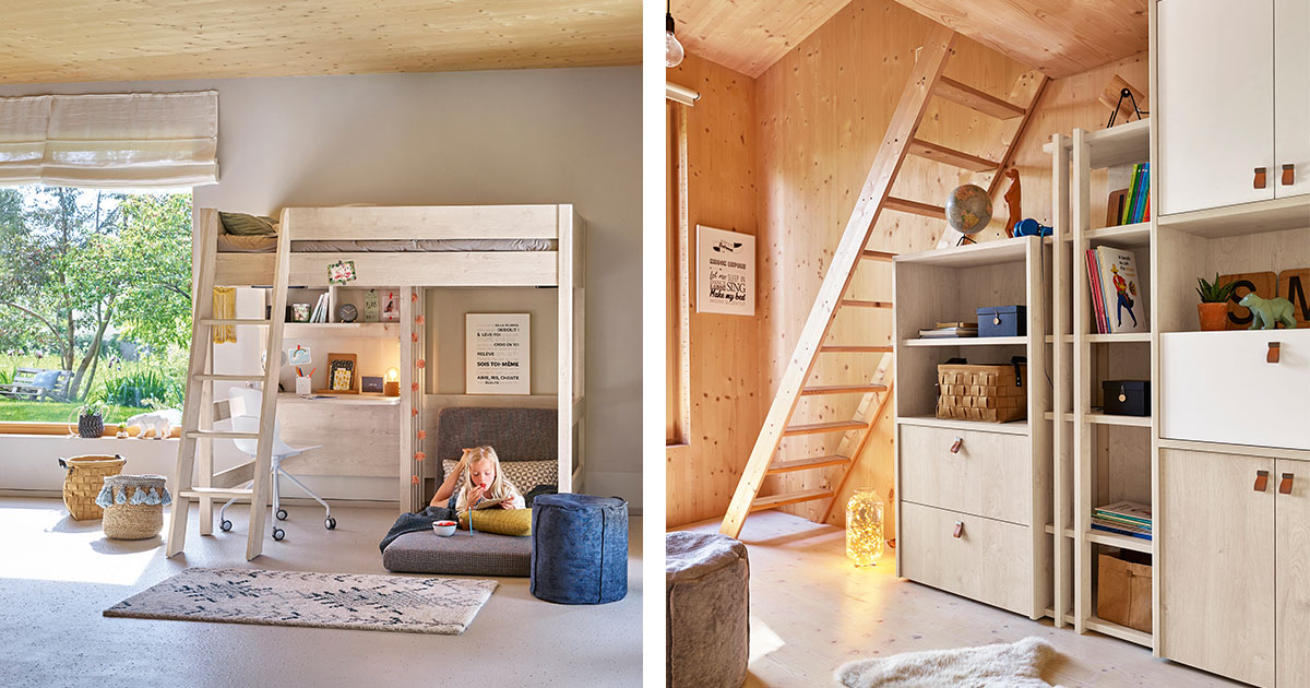KILCRONEY_FURNITURE_KIDS_TEENS_Lodge-High-Bed-with-Folding-chair_and_Storage_Units_Bookcase