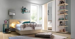 KILCRONEY_FURNITURE_KIDS_TEENS_Mistral-120cm-Bed-with-Beside-Shelf-Unit-Wardrobe-Sliding-Doors-with-Mirror-Bookcase-COMPLICE-Mobile-Trolley-with-sound-box