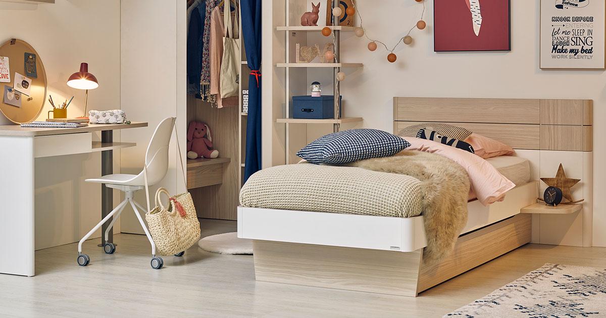 KILCRONEY_FURNITURE_KIDS_TEENS_Mistral-Bed-with-Bedside-Shelf-Unit-Underdrawer-Corner-Wardrobe-Bookcase-Desk
