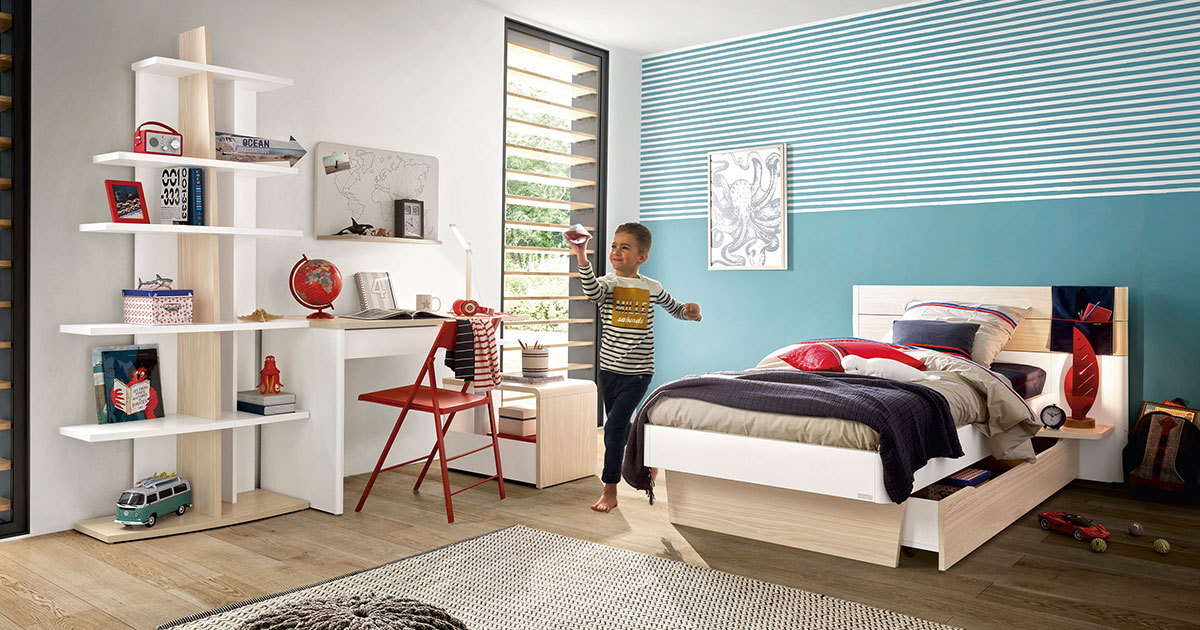 KILCRONEY_FURNITURE_KIDS_TEENS_Mistral-Single-Bed-underdrawer-Bookcases-Desk-Storage-Unit-and-World-Map-Wall-Shelf