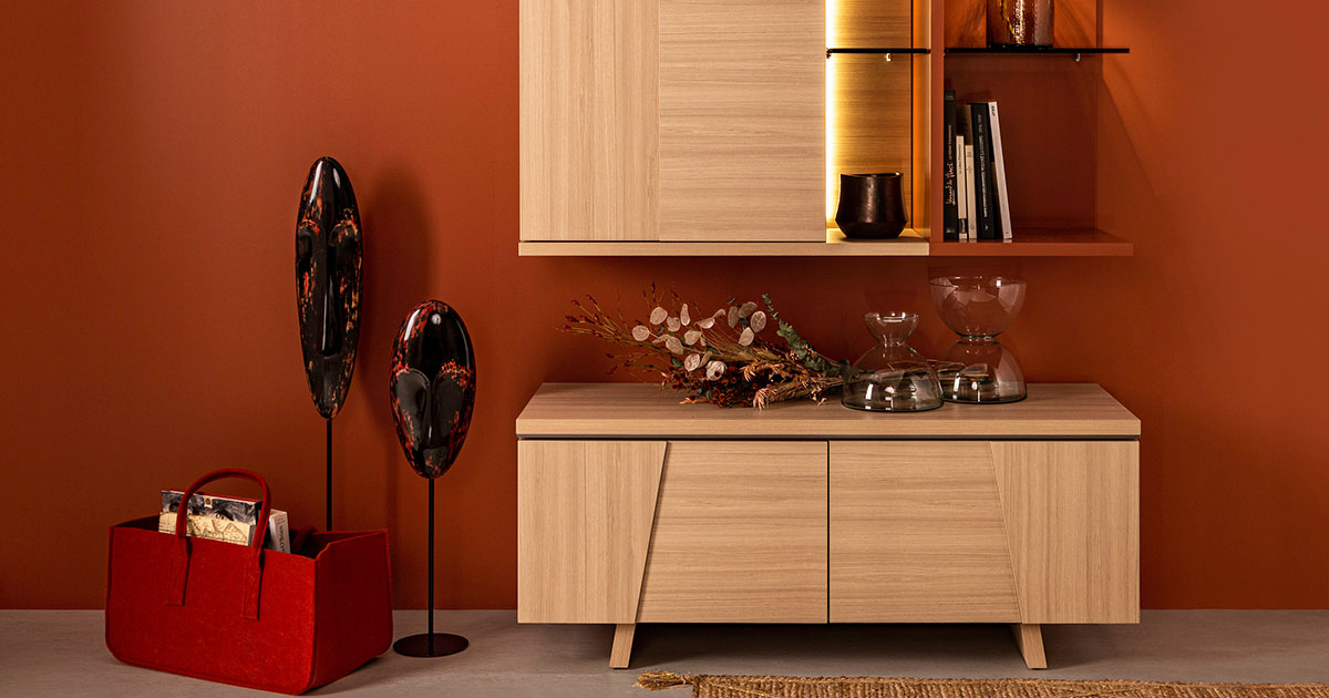 KILCRONEY_FURNITURE_LIVING_Arco TV Unit and Wall Storage Unit in Structured Oak