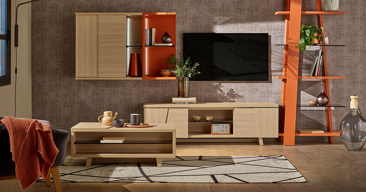 KILCRONEY_FURNITURE_LIVING_Arco-TV-Units-Wall-Storage-Coffee-Table-in-Structed-Oak-and-Bookcase-in-Terra
