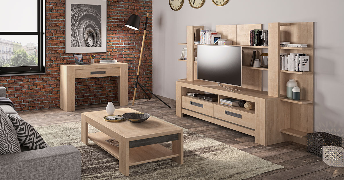KILCRONEY_FURNITURE_LIVING_Boss-Oak-TV-Unit-coffee-table-and-bookcase